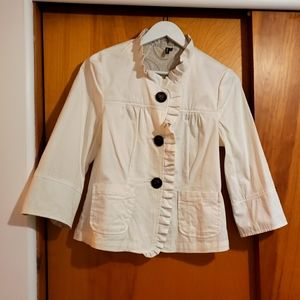 Ambition White Cotton Jacket - size M